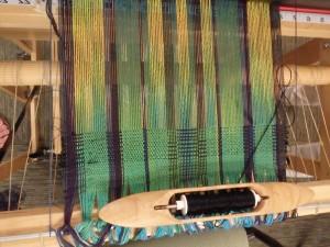 Dee Dee starts to weave.