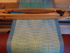 Still on the loom, but it look luscious.