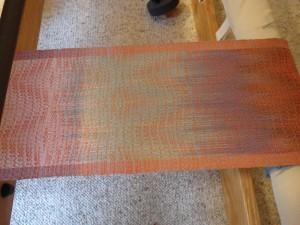 Orange weft