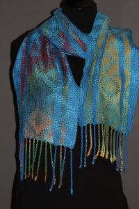Earth and Sky With Turquoise Scarf