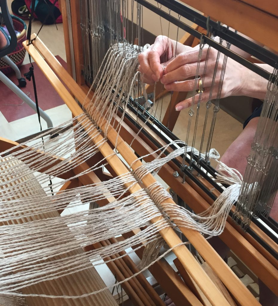MAFA 2019 Weaving 101 Threading the Loom