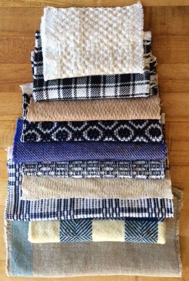Sheri Ward's Early American Textiles Samples Stacked