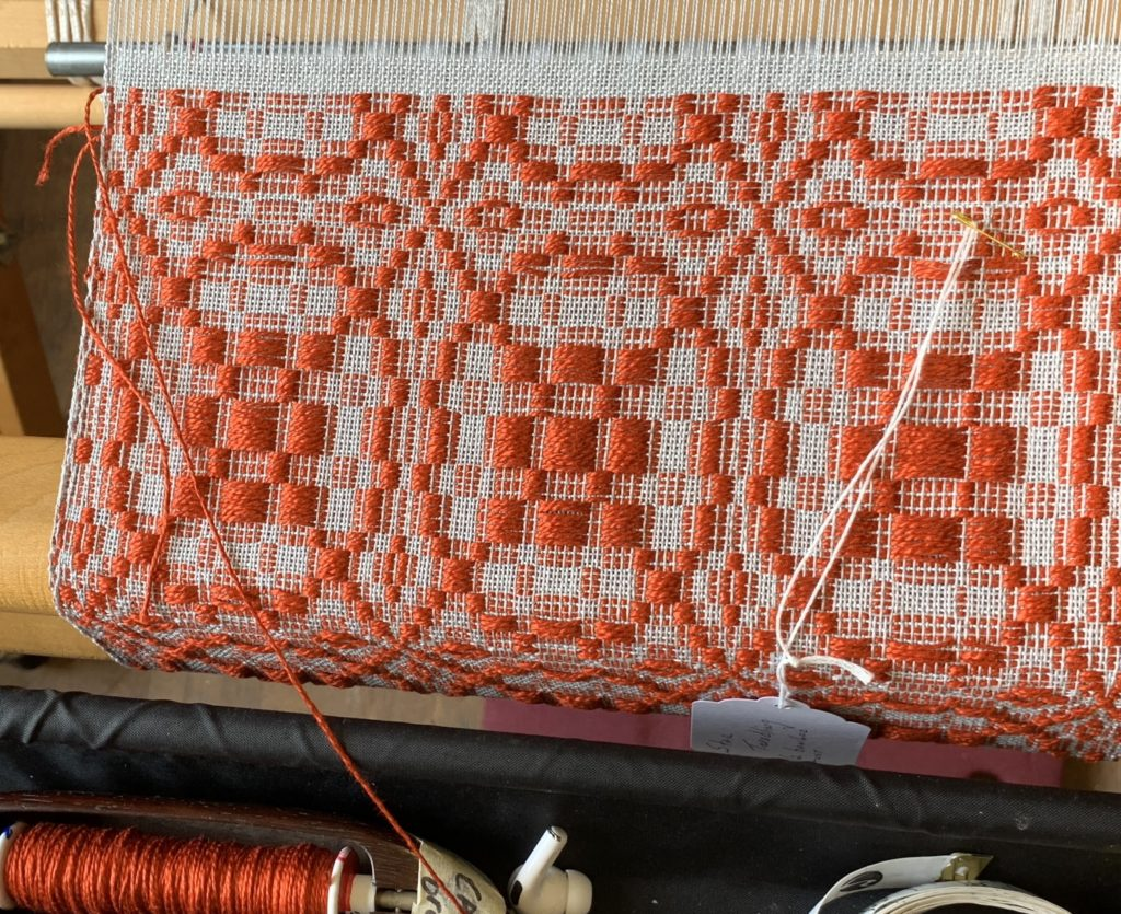 Whidbey Weavers Guild Overshot Class star treadling