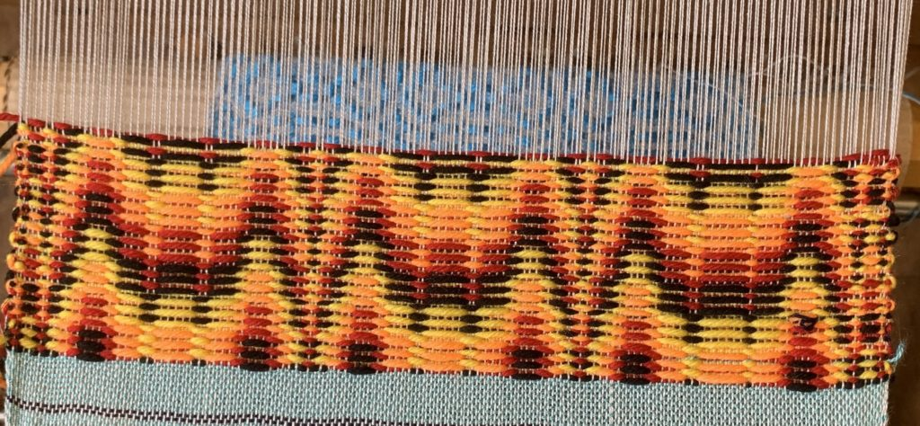Whidbey Weavers Guild Overshot Class Flame Point Treadling